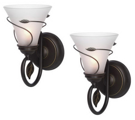 Candle Impressions S 2 Vine Wrapped Flameless Sconces W