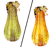 Indoor Outdoor Glazed Resin Harvest Luminary by HomeReflections - H203211