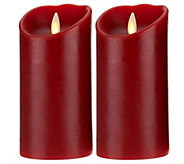Luminara Set of 2 4 Flameless Candles with Timer - H206111