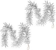 Set of 2 5 Glitter Leaf Garlands by Valerie - H208711