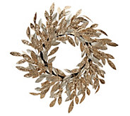 22 Sparkling Glittered Bay Leaf Wreath by Valerie - H209111