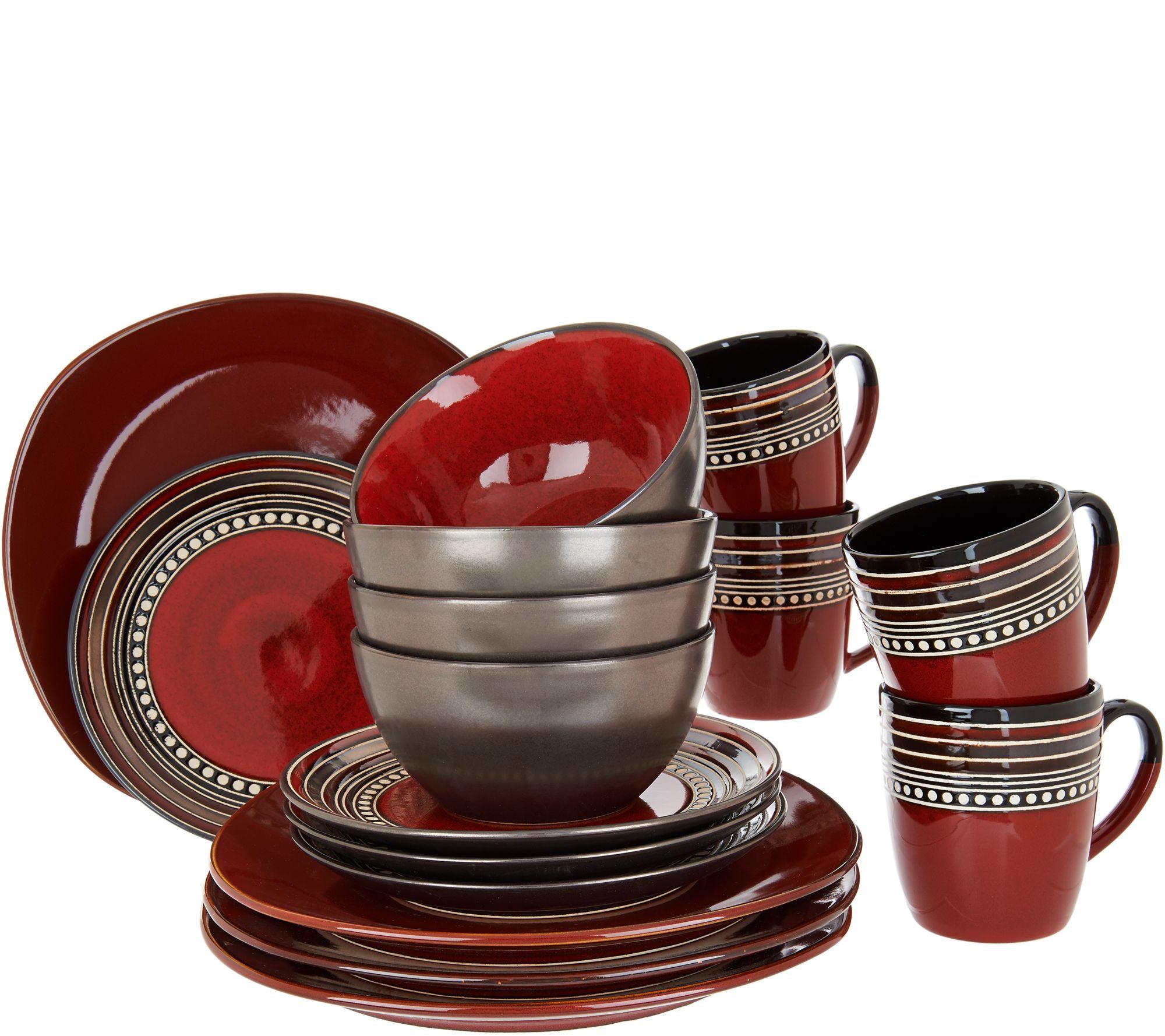 Cooku0027s Essentials Tucson 16 Pc Ceramic Dinnerware Set   H211111