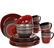 Cooks Essentials Tucson 16-pc Ceramic Dinnerware Set - H211111