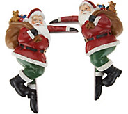 Plow & Hearth Set of 2 Festive Holiday Character Door Corners - H211611