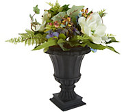 Hydrangea and Berry Arrangement in Decorative Urn by Valerie - H214411
