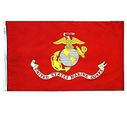 Annin Marine Corps Nyl-Glo Flag with Grommets 3 x 5 - H282211