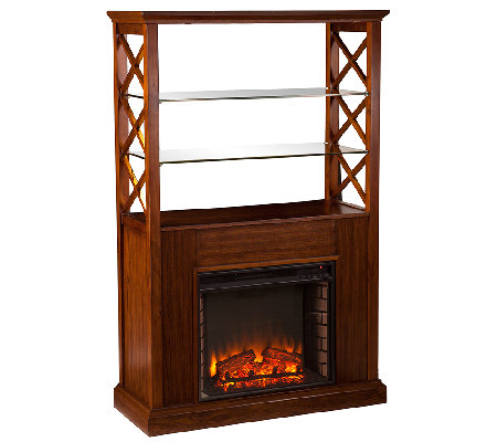 Owen Electric Fireplace Curio Tower — QVC