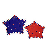 Temp-tations Red, White & Blue Set of Two StarNesting Plates - H289111