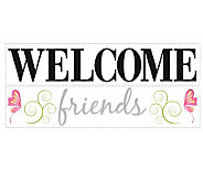 RoomMates Welcome Friends Peel & Stick Wall Decals - H348911