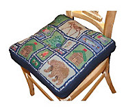 Lodge Sampler 16 x 16 Tapestry Chair Pad - H349311