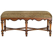 Linda Dano Plush Bench with Paisley Cotton Fabric Seating - H350711