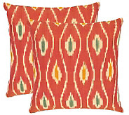 Safavieh Set of 2 22x22 Iris Printed Ikat Design Pillows - H360611
