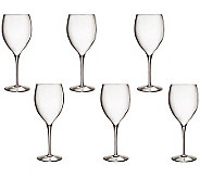 Luigi Bormiol Set of 6 Magnifico Wine Glasses,28.75oz - H364811