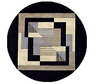 Momeni New Wave Geometric 59 Round Handmade Wool Rug - H161712