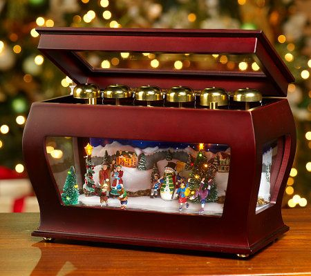 Animated Symphony Of Bells Musical Tabletop Decoration Enchanting Mrchristmas Limited Edition Animated Symphony Of Bells Music Box Design Inspiration