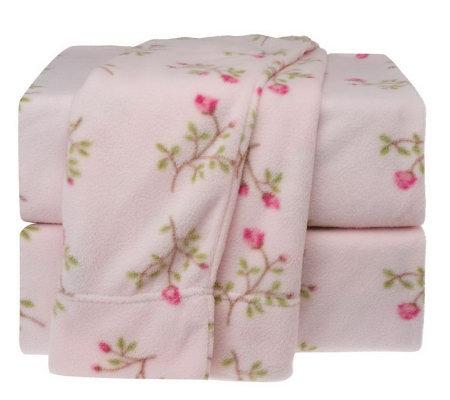Malden Mills Polarfleece 174 Rose Bunches Qn Sheet Set