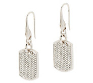 Stella Valle Swarovski Crystal DogTag Earrings by Lori Greiner - H204812