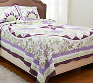French Star Twin 100Cotton Quilt Set with - H205912