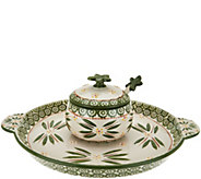 Temp-tations Old World 12 Platter w/ Lidded Bowl And Spoon - H206212
