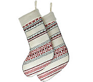 ED On Air Set of 2 Knit Fair Isle Stockings by Ellen DeGeneres - H207112