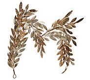 5 Sparkling Glittered Bay Leaf Garland by Valerie - H209112