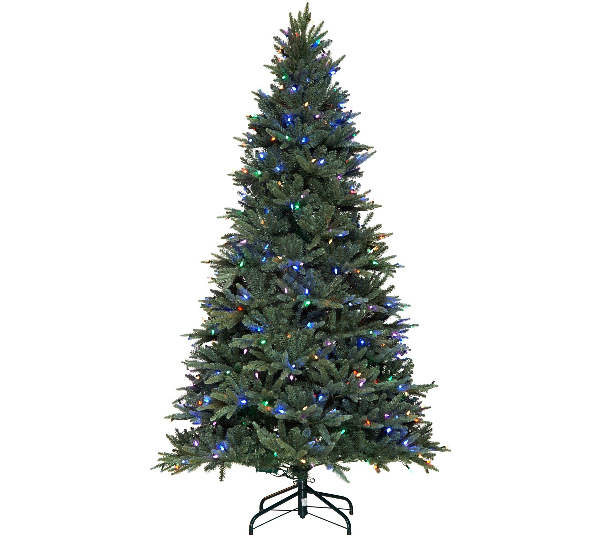 Santa's Best RGB Blue Spruce Christmas Tree w/64 Functions — QVC.com