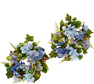Hydrangea and Berry Set of 2 Rings by Valerie - H214412