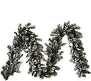 As Is Bethlehem Lights Prelit 9 Flocked Garland - H215012