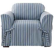 Sure Fit Grain Sack Stripe Chair Slipcover - H288812