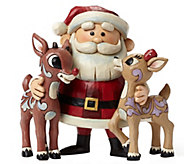 Jim Shore Rudolph Traditions Santa Hugging Rudolph & Clarice - H290212