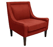 Skyline Furniture Mid-Century Swoop Linen Arm Chair - H365912