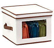 Honey-Can-Do Natural Canvas Medium Window Storage Box - H367412