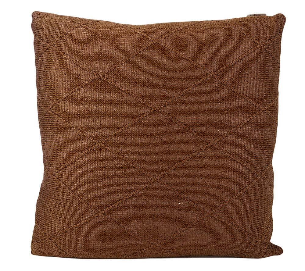 Qvc Decorative Pillows : Liz Claiborne New York Diamond Aran Knit Decorative 20
