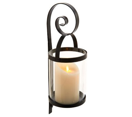 Wall Sconce With Led Timer Candle : Qvc Flameless Sconces Decoration News