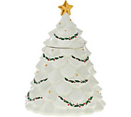 Lenox Holiday Tree Cookie Jar with 24kt Gold Accents - H208713