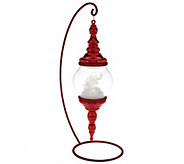 Kringle Express Hanging Finial Ornament with Lighted Frosted Scene - H209513