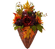 As Is Autumns Glory Wall Basket by Valerie - H210613