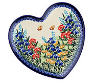 Lidias Polish Pottery Heart Plate - H212213