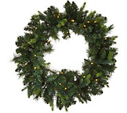 As Is Bethlehem Lights Prelit 24 Green Wreath - H215013