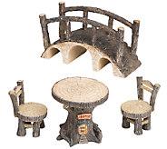 Plow & Hearth Tree Stump Fairy Set - H287013
