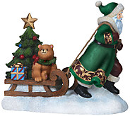 Limited Edition Along for the Ride Santa Figurine by Pipka - H287613