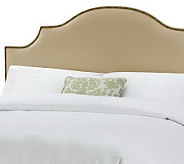 Linda Dano Linen Nail Button Notched Full/Queen Headboard - H349013