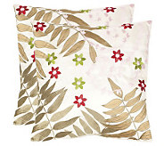 Safavieh Set of 2 18x18 NaiisFern Applique Pillows - H360613