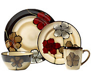Pfaltzgraff Everyday Painted Poppies 16 pc dinnerware set - H363613