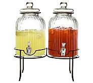 Springfield Glass Beverage Dispensers Set withStand - H368313