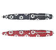 Twos Company Set of 2 Floral Design Crystal EmbellishedPens - H168814