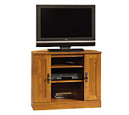 Sauder Harvest Mill Corner Entertainment Stand-Oak Finish - H182514