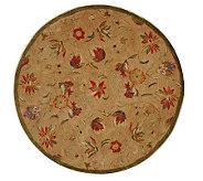 Anatolia 4 Round Beige Handtufted Oriental Wool Rug - H183614