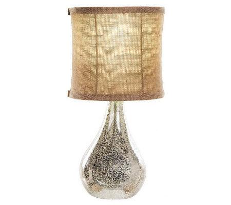 Home Reflections Open Base Mercury Glass Table Lamp Qvc Com