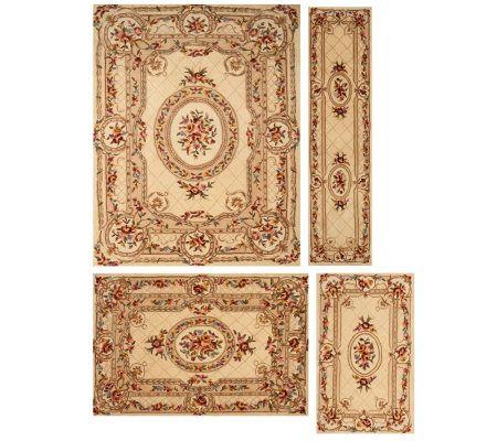 Royal Palace Blossoming Medallion Handmade Wool Rug Qvc Com